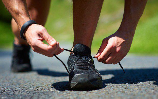 amarração tênis de Corrida